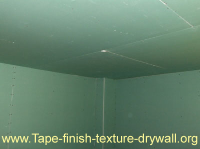 Tips on Hanging Drywall - Hung and Ready for Tape.